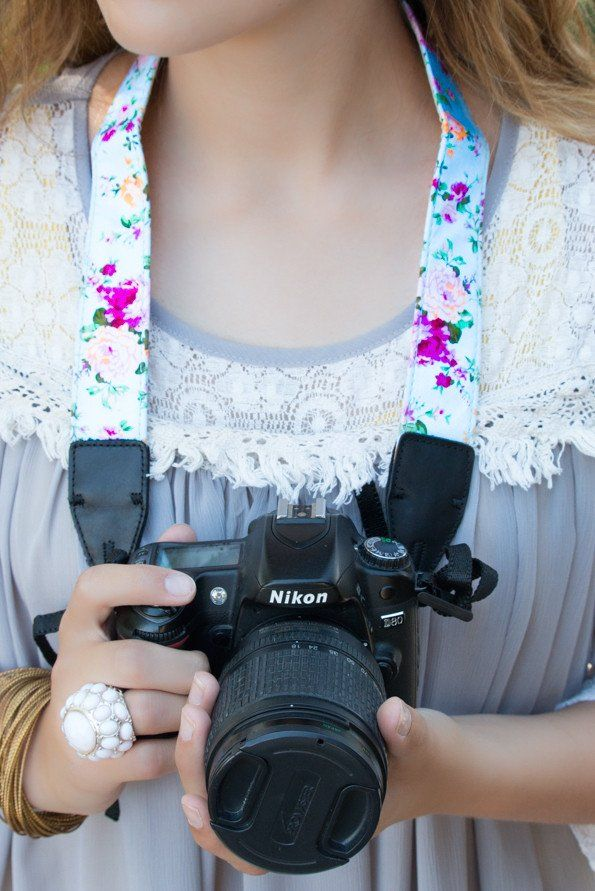 Every girl needs a beautiful camera strap to help hold her camera while taking those amazing pictures!! And we have the most beautiful stylish one for you! It is made with a beautiful cotton vintage f