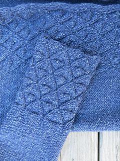 Vågskvalp är en lång kofta med fickor. Du börjar med att sticka två fyrkantiga…