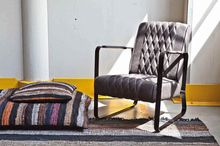 Carpet Recycled leather - multicolor | Pillow Recycled leather - multicolor