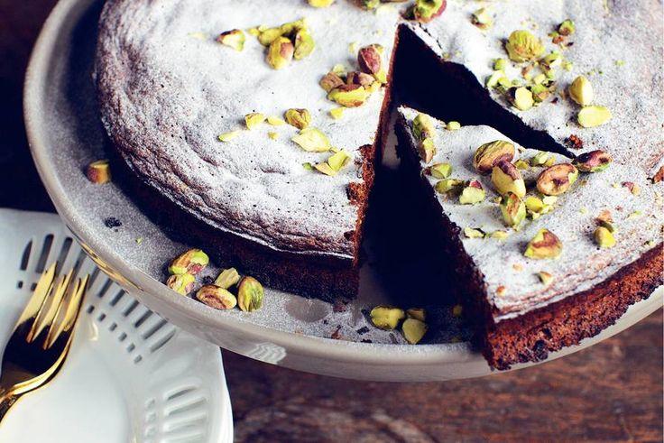 Chocoladetaart met pistachenoten - Recept - Allerhande