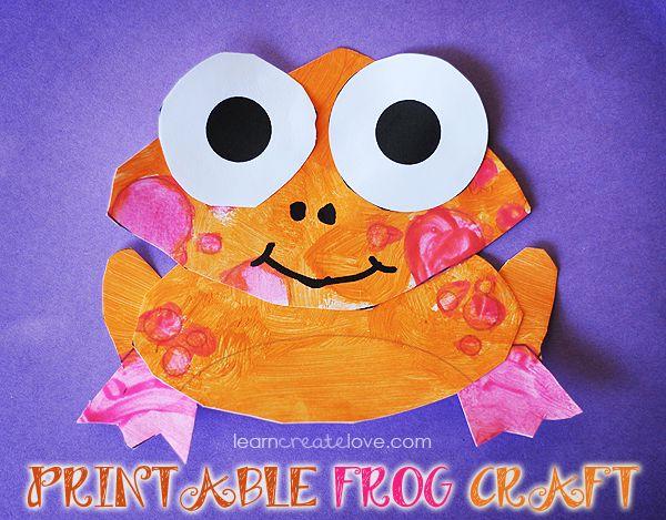 Printable Orange Frog Craft