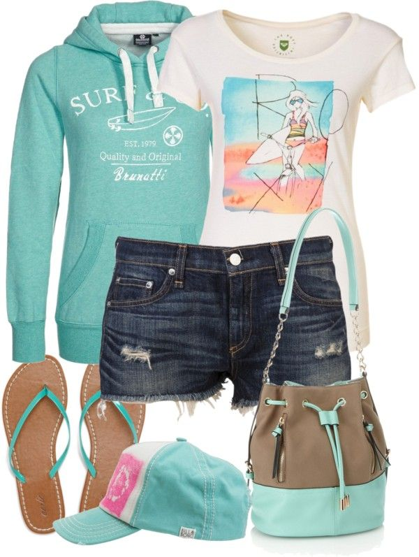 """""""beach night"""" by karenamber ❤ liked on Polyvore like the hoodie and the color"""