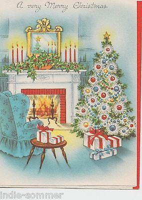 Vintage Christmas Greeting Card, Beautiful Christmas Scene !