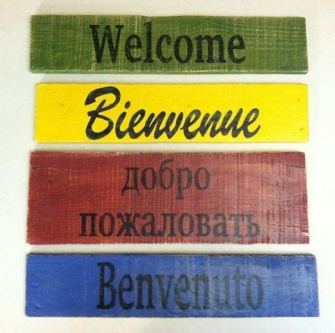 Pallet Wood Signs | remember, use a laser printer, inkjet makes a mess