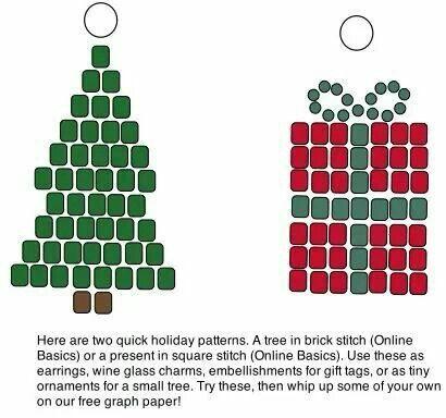 Christmas earrings :)
