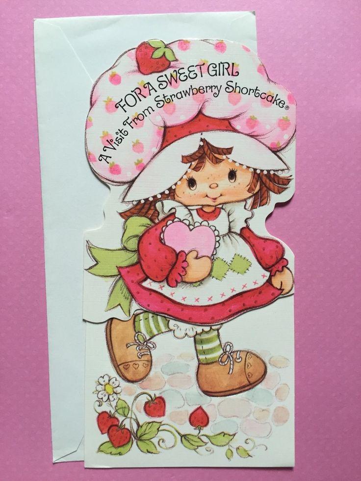 Vintage Strawberry Shortcake Birthday Card (Punch Out) 1981   eBay