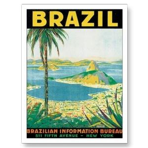 Vintage Rio de Janeiro Brazil Travel Poster Art