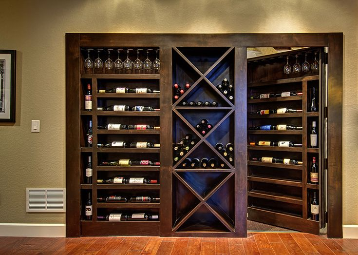 Eudorast Basement Hidden Door Wine Rack Finished