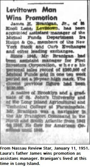 James Branigan 1951, lives in Levittown, Long Island