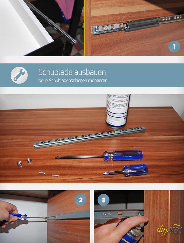 Knirscht die Schublade, sind die Führungsschienen K.O. Wir zeigen, wie leicht sich eine Schublade ausbauen lässt, um neue Schubladenschienen einbauen zu können.