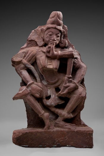 SFO Museum presents Deities in Stone: Hindu Sculpture from the Collections of the Asian Art Museum    The Hindu deity Chamunda  c. 1000–1100  Central India  sandstone  Asian Art Museum of San Francisco, the Avery Brundage Collection  B61S15+  L2012.0801.026