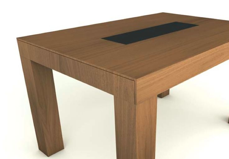 mesa melamine con madera - Buscar con Google