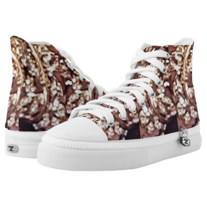 Rack of Gold High-Top Sneakers - glitter gifts personalize gift ideas unique