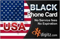 USA Prepaid Phone Card Only .... $19.99. Digitz International Prepaid Calling and Phone Cards that have many features including easy recharging, auto-recharge. Digitz offers great quality of international calls to any cellular and landline in USA! + Prepaid Calling & Phone Cards + Cheap Calling & Phone Cards + International Calling Cards + Long Distance Phone Cards + Calling Cards in International Services