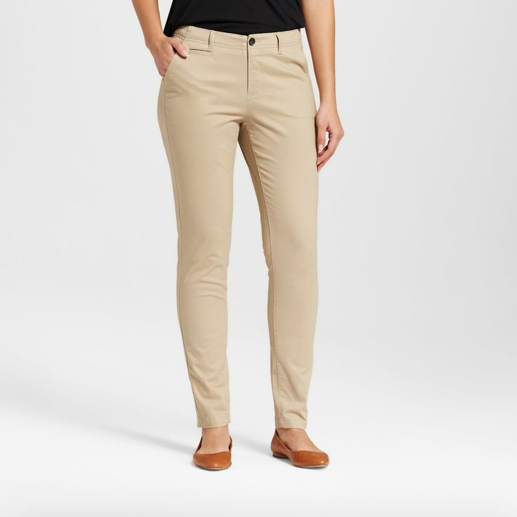 The Women's Skinny Chino Pants by Merona™ by gives you a versatile staple for confidence building styles. These women's skinny dress pants have a fit and a feel you love for everyday wear.