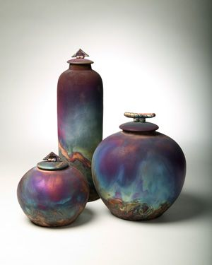 John Oakes is a true master at creating Raku pottery