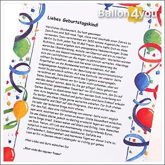 Lustiger Brief zum Geburtstag Briefinhalt: Bei dieser