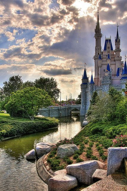 Cinderellas Castle in Florida  The day I can take my kids and let them see a real life castle and ROYALTY that they understand!!! I could actually picture their faces now. This could also be under Things that Make me Smile!