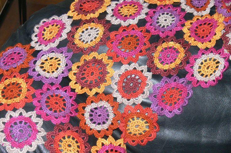 my japanese flower crochet shawl