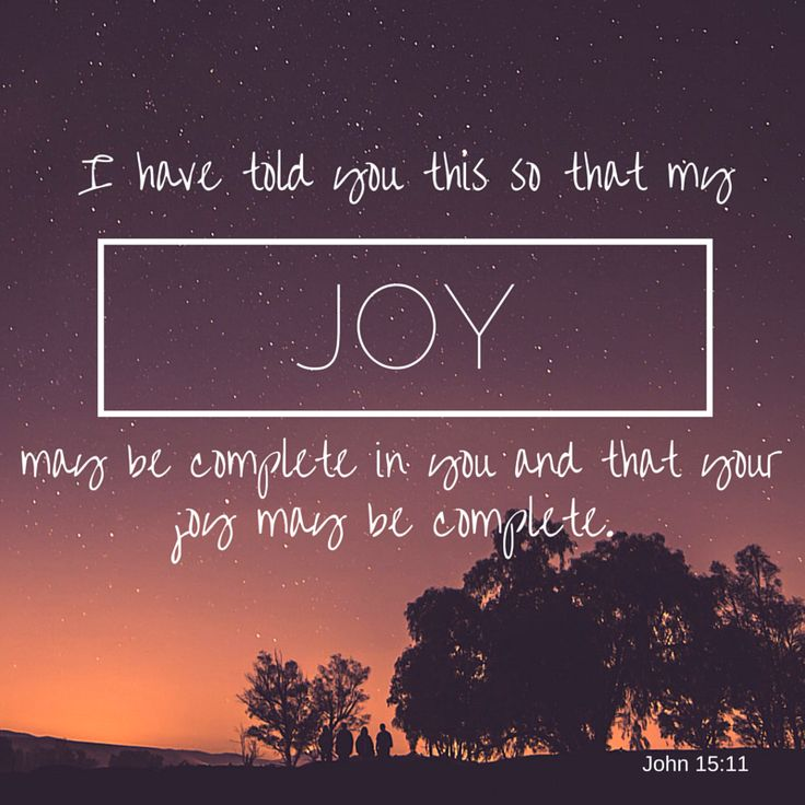 """""""These things have I spoken unto you, that my joy might remain in you, and that your joy might be full."""" John 15:11 KJV ... Jesus speaks o Joy"""