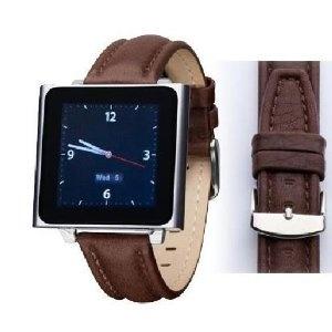 Wrist Jockey Executive - Brown Calfskin Leather (iPod nano watch band) (Electronics) #iPod