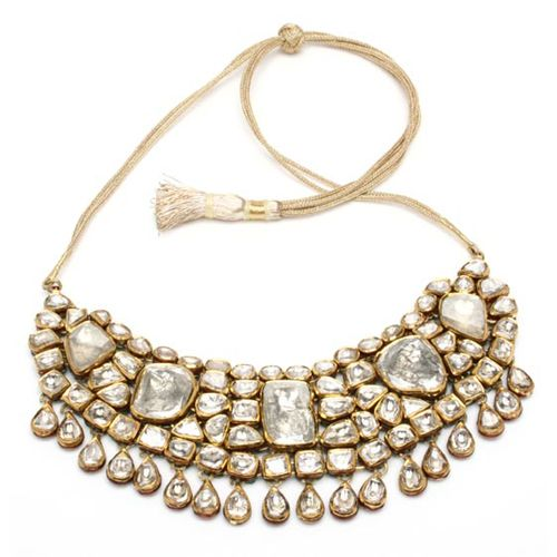 Hira Necklace - I love the Maharaja Jewels collection at Amrita Singh! Inspired by Moghul art and carefully crafted using Kundan techniques, these pieces are absolutely flawless. <3<3<3