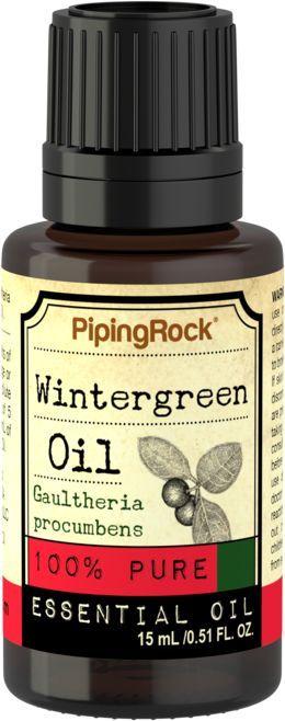 Wintergreen 100% Pure Essential Oil 1/2 oz (15 ml) Dropper Bottle