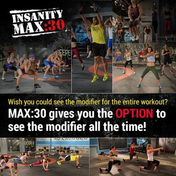 Insanity Max 30 gives you the option to see the modifier at all times to help you build up to Shaun T's MAX OUT status! This is going to be such a killer workout!!