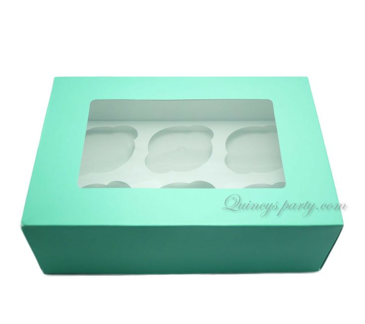 Quincy's Party - CUPCAKE/ MUFFIN BOXES 6 CAVITY-GREEN (PACK OF 3), (http://www.quincysparty.com/cupcake-muffin-boxes-6-cavity-green-pack-of-3/)