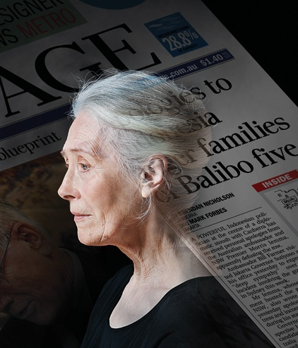 Julia Blake stars in National Interest, a new Australian play by Aidan Fennessy based on the shocking true story of the Balibo Five.