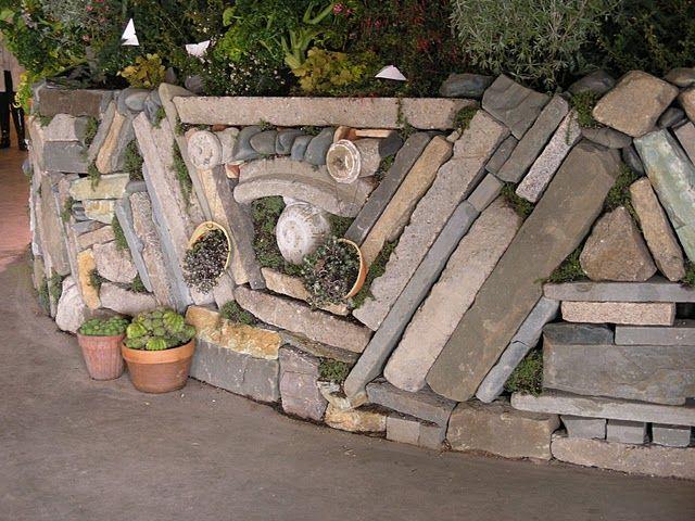 garden wall: Garden Walls, Beauty, Diy, Garden Fences, Garden Stonework