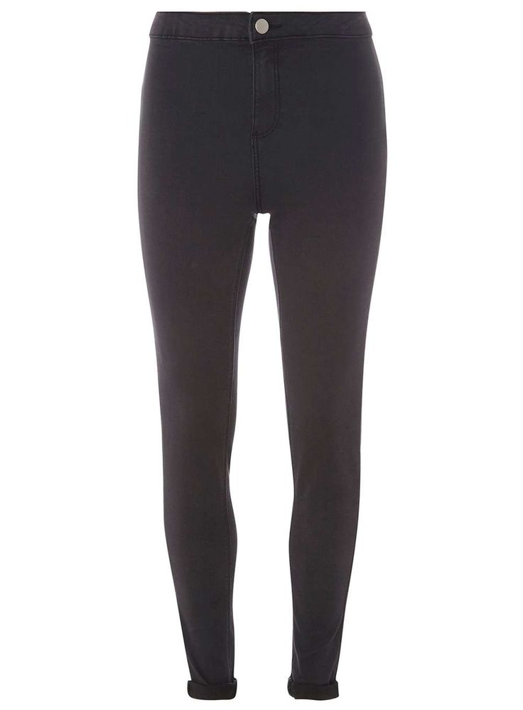 Womens Wash Black Fly Front 'Lyla' - High Waisted Tube Jeans- Black