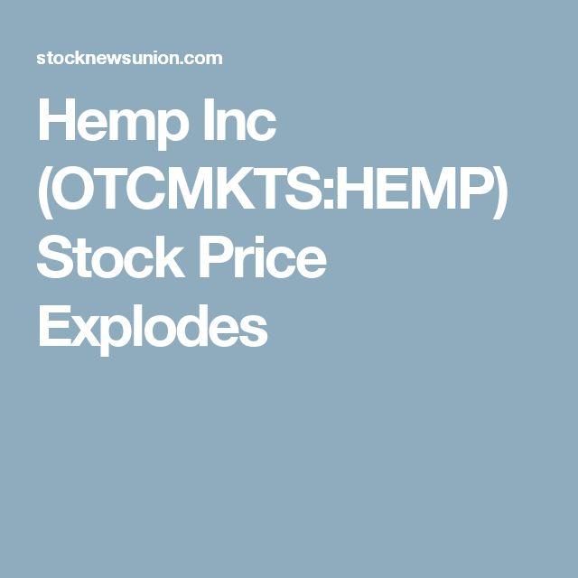 Hemp Inc (OTCMKTS:HEMP) Stock Price Explodes
