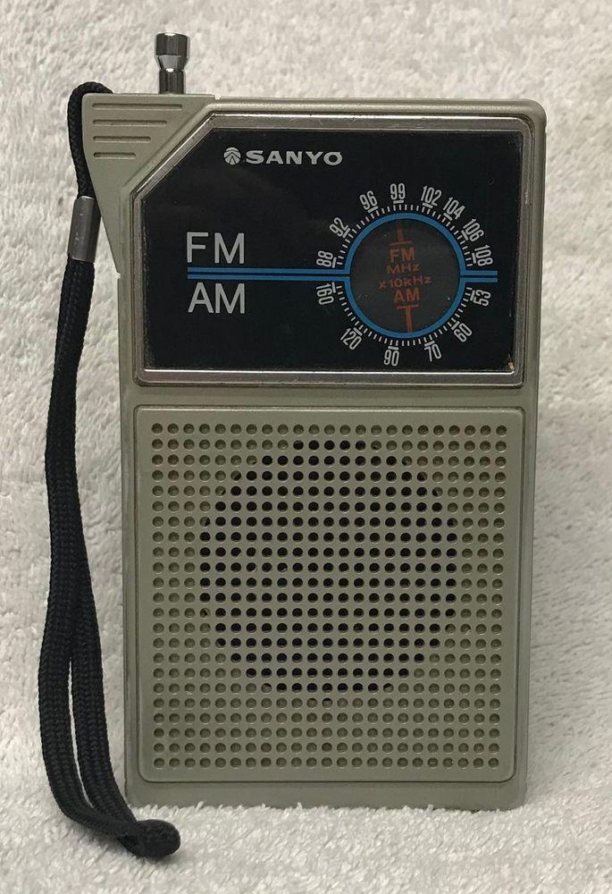 Rare Vintage 1970s SANYO Model RP5047A AM FM Transistor Radio w