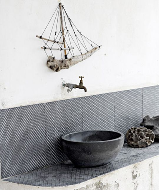 Love The Whole Of It But The Driftwood Boat Makes Is Perfect. Rustic  BathroomsModern Bathroom DecorBathrooms ...