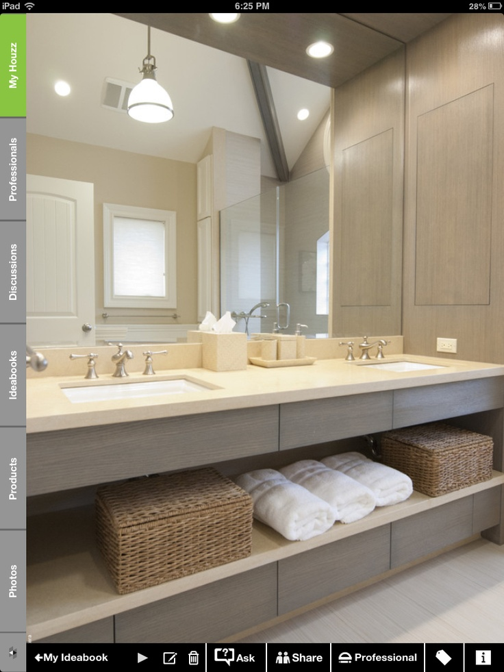 like this unit (not the colour) but we will need storage beneath sinks. Still prefer your sinks that sit on top though.