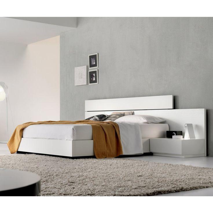 Boiserie Beat assortie au lit  letto Beat Sirio avec boiserie tête de lit rembourrée et revêtue en éco-cuir Cat. F (20) et boiserie haute en chêne laqué à pores ouverts gris perle (501) - détail