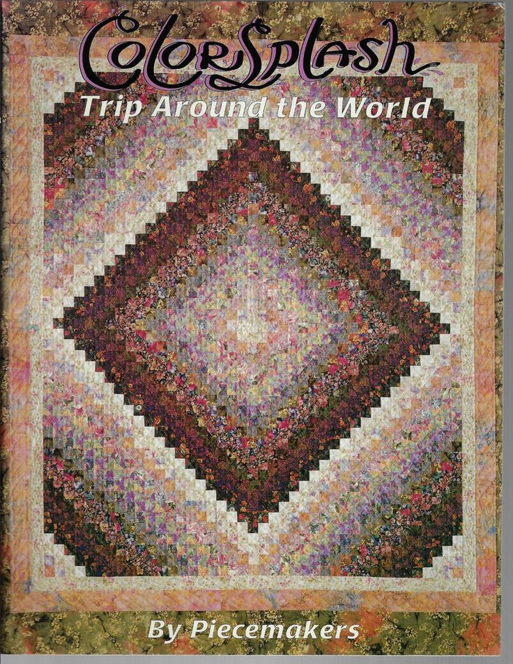 Color Splash Trip Around the World quilting book Piecemakers quilt patchwork #Piecemakers