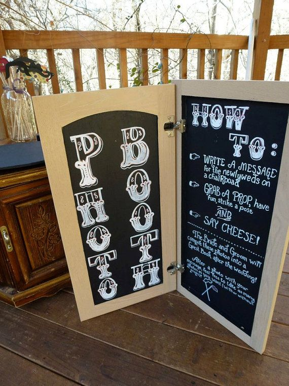 Fold open photo booth chalkboard perfect for DIY by HipsterHappy