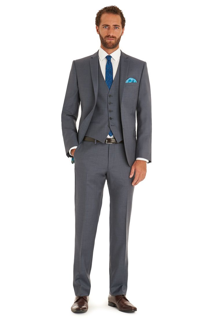 Ted's iconic Endurance collection combines quality fabrics and hidden detailing, with timeless traditions and modern designs. This steel grey Ted Baker Endurance mixer suit Jacket is single breasted with a notch lapel. It has a two button fastening, two outer pockets, and an outer breast welt. This mix and match jacket comes with a matching trouser and waistcoat.