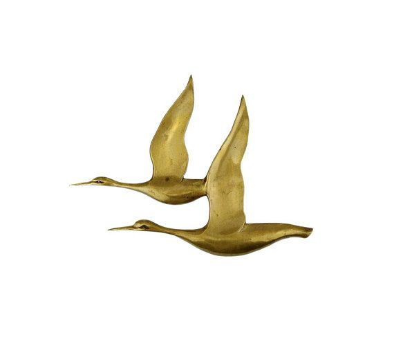 Modern Ceramic Wall Sculpture Flying Seagull Handmade Art Decor Black Large