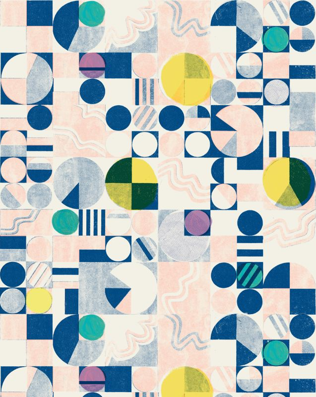 crops A pattern created for a project that was never used. It was inspired by the view from an airplane. - Danielle Kroll