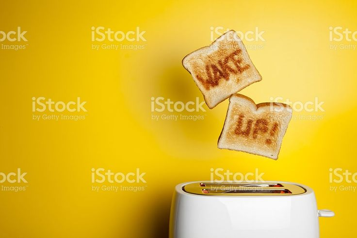 Salto tostadas de pan de despertarse! – fotografía de stock libre de derechos