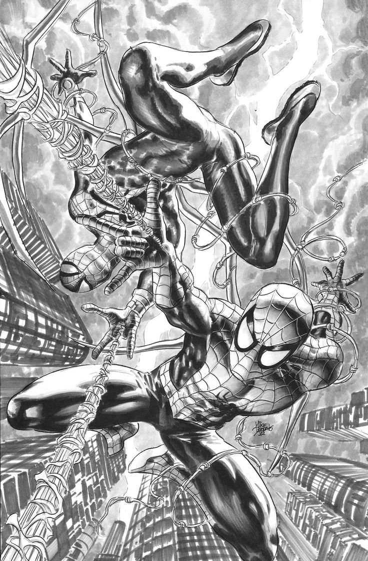 "mikedeodatojr: "" Spider-Man and Superior Spider-Man """