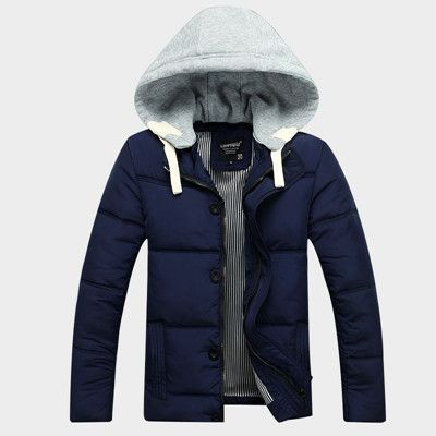 Men's Parkas cotton para Outdoor fashion sport hooded