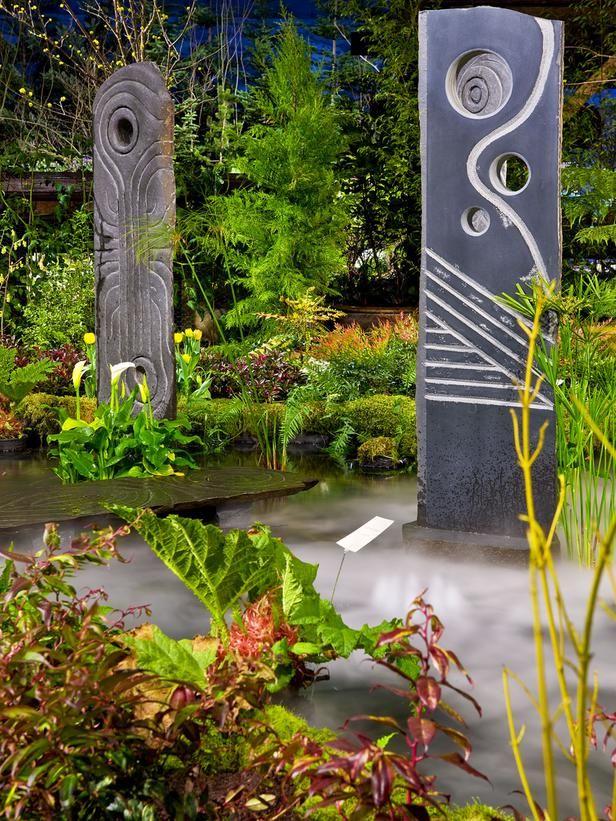 Eclectic Sculptures : Landscaping | Falling Water Designs : Garden Galleries : HGTV - Home & Garden Television