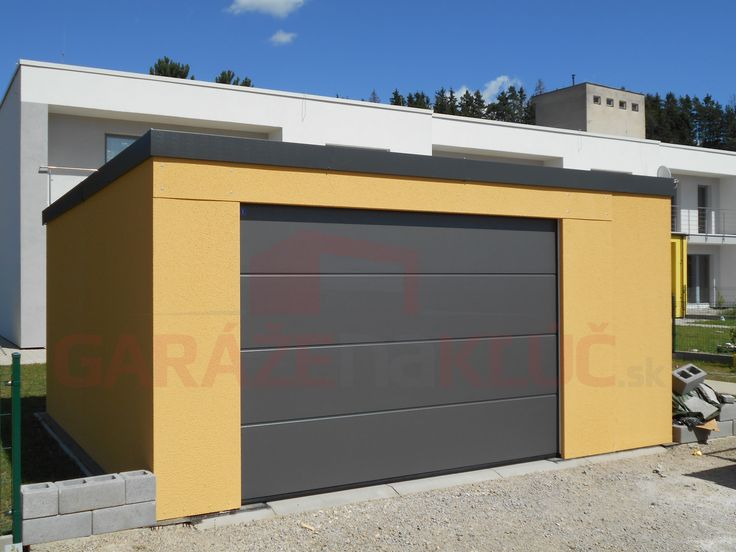 Dizajnová montovaná garáž na kľúč v sviežom žlto-antracitovom prevedení. Či myslíte, môže byť?