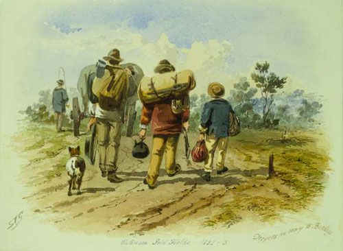 Diggers on way to Bendigo