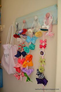DIY Hair Bow Hanger, Hair bows, hair bow hanger, DIY, storage
