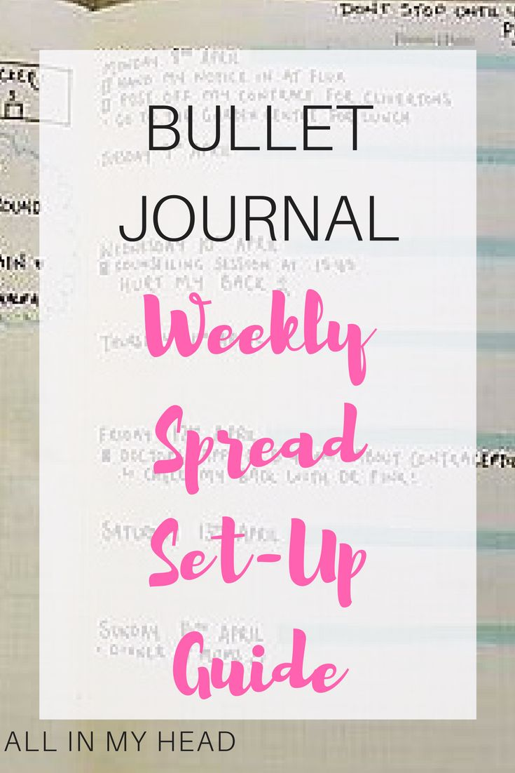 Weekly spread bullet journal tips and ideas!